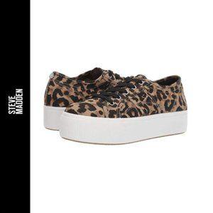 Steve Madden Emmi Leopard Platform Sneaker